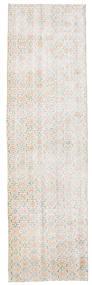 Colored Vintage Rug 84X290 Authentic  Modern Handknotted Hallway Runner  White/Creme/Light Grey/Dark Beige (Wool, Turkey)