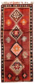 Herki Vintage Rug 166X403 Authentic  Oriental Handknotted Hallway Runner  Dark Red/Rust Red/Dark Brown (Wool, Turkey)