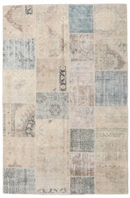 Patchwork Rug 197X300 Authentic  Modern Handknotted Light Grey (Wool, Turkey)