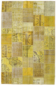 Patchwork Rug 192X300 Authentic  Modern Handknotted Olive Green/Yellow (Wool, Turkey)