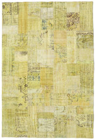 Patchwork Rug 201X303 Authentic  Modern Handknotted Yellow/Olive Green (Wool, Turkey)