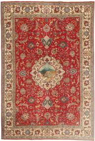 Tabriz Patina Rug 243X355 Authentic  Oriental Handknotted Dark Red/Light Brown (Wool, Persia/Iran)