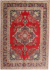 Tabriz Rug 207X290 Authentic  Oriental Handknotted Dark Red/Dark Brown (Wool, Persia/Iran)