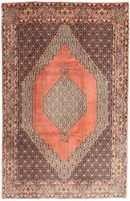 Senneh Rug 195X295 Authentic  Oriental Handknotted Brown/Light Brown (Wool, Persia/Iran)