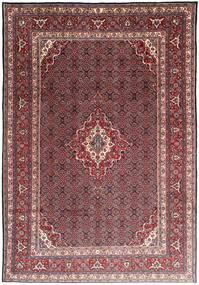 Moud Rug 215X308 Authentic  Oriental Handknotted Dark Red/Dark Brown (Wool/Silk, Persia/Iran)
