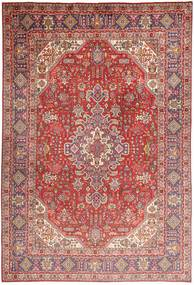 Tabriz Rug 200X298 Authentic  Oriental Handknotted Dark Red/Light Pink (Wool, Persia/Iran)