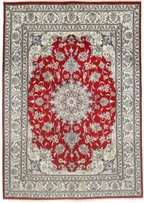 Nain Rug 150X207 Authentic  Oriental Handknotted Light Grey/Dark Red (Wool, Persia/Iran)