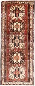 Hamadan Rug 128X330 Authentic  Oriental Handknotted Hallway Runner  Dark Red/Beige (Wool, Persia/Iran)