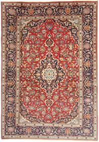 Keshan Rug 198X292 Authentic  Oriental Handknotted Light Brown/Beige (Wool, Persia/Iran)