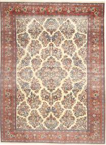 Sarouk Patina Rug 200X280 Authentic Oriental Handknotted Beige/Dark Brown (Wool, Persia/Iran)