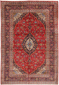 Keshan Rug 203X300 Authentic  Oriental Handknotted Dark Red/Rust Red (Wool, Persia/Iran)