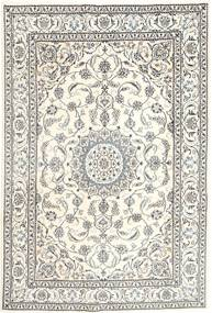 Nain Rug 196X293 Authentic  Oriental Handknotted Light Grey/Beige (Wool, Persia/Iran)