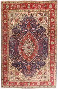 Tabriz Rug 200X302 Authentic  Oriental Handknotted Dark Red/Dark Brown (Wool, Persia/Iran)