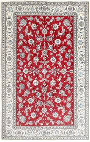 Nain Rug 195X305 Authentic  Oriental Handknotted Light Grey/Crimson Red (Wool, Persia/Iran)