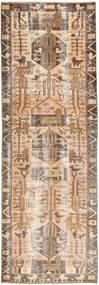 Colored Vintage Rug 105X320 Authentic Modern Handknotted Hallway Runner Brown/Beige (Wool, Persia/Iran)