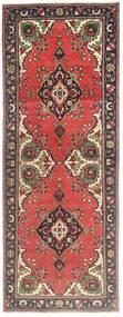 Tabriz Patina Rug 105X278 Authentic  Oriental Handknotted Hallway Runner  Dark Red/Rust Red (Wool, Persia/Iran)