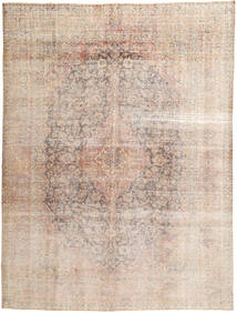 Colored Vintage Rug 292X390 Authentic  Modern Handknotted Light Grey/Dark Brown Large (Wool, Persia/Iran)