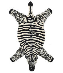Zebra Rug 100X155 Modern Black/Beige (Wool, India)