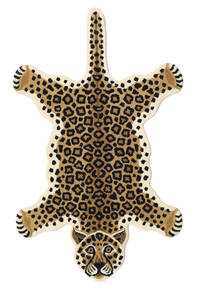 Leopard - Beige Rug 100X160 Modern Black/Light Brown/Beige (Wool, India)