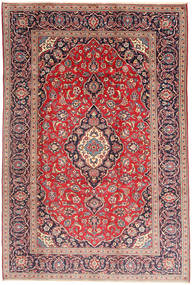 Keshan Rug 198X298 Authentic  Oriental Handknotted Dark Red/Beige (Wool, Persia/Iran)