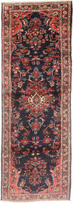 Hamadan Rug 105X300 Authentic  Oriental Handknotted Hallway Runner  Dark Red/Dark Blue (Wool, Persia/Iran)