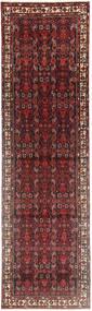Hamadan Rug 110X400 Authentic  Oriental Handknotted Hallway Runner  Dark Red/Brown (Wool, Persia/Iran)