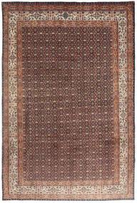 Moud Rug 193X295 Authentic  Oriental Handknotted Dark Red/Dark Brown (Wool/Silk, Persia/Iran)