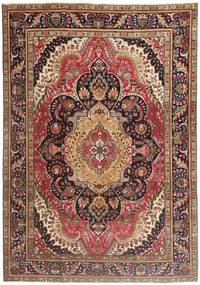 Tabriz Patina Rug 210X297 Authentic  Oriental Handknotted Dark Red/Dark Brown/Brown (Wool, Persia/Iran)