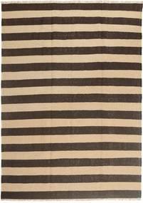 Kilim Rug 168X236 Authentic  Oriental Handwoven Dark Brown/Beige (Wool, Persia/Iran)