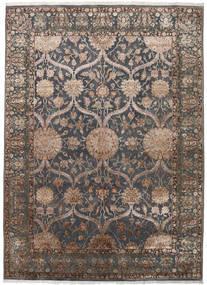 Keshan Indo Wool/Viscos Rug 248X342 Authentic  Oriental Handknotted Dark Grey/Light Grey (Wool/Silk, India)