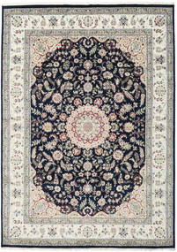 Nain Indo Rug 250X348 Authentic  Oriental Handknotted Light Grey/Dark Blue Large ( India)