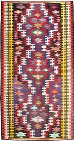 Kilim Rug 180X352 Authentic  Oriental Handwoven Hallway Runner  Crimson Red/Dark Brown (Wool, Persia/Iran)