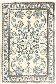 Nain Rug 60X90 Authentic  Oriental Handknotted Beige/Light Grey (Wool, Persia/Iran)