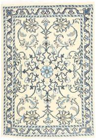 Nain Rug 60X90 Authentic  Oriental Handknotted Beige/Dark Grey (Wool, Persia/Iran)