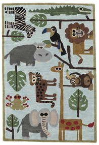 Zoo Handtufted Rug 120X180 Modern Light Blue/Light Grey (Wool, India)