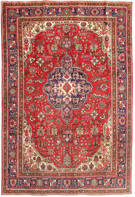 Tabriz Rug 196X288 Authentic  Oriental Handknotted Dark Red/Light Brown (Wool, Persia/Iran)