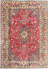 Tabriz Rug 197X288 Authentic  Oriental Handknotted Beige/Dark Grey (Wool, Persia/Iran)