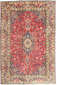 Tabriz Rug 194X290 Authentic  Oriental Handknotted Rust Red/Dark Grey (Wool, Persia/Iran)