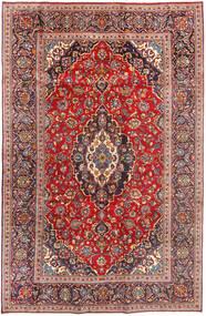 Keshan Rug 196X307 Authentic  Oriental Handknotted Rust Red/Dark Red (Wool, Persia/Iran)