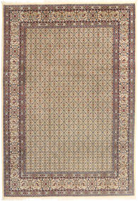 Moud Rug 195X290 Authentic  Oriental Handknotted Light Grey/Light Brown (Wool/Silk, Persia/Iran)