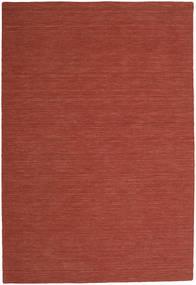 Kilim Loom - Rust Rug 250X350 Authentic  Modern Handwoven Dark Red Large (Wool, India)