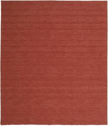 Kilim Loom - Rust Rug 250X300 Authentic  Modern Handwoven Dark Red Large (Wool, India)