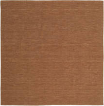 Kilim Loom - Brown Rug 250X250 Authentic  Modern Handwoven Square Brown Large (Wool, India)