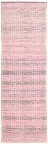 Alva - Pink/White Rug 80X250 Authentic  Modern Handwoven Hallway Runner  Light Pink/Light Purple (Wool, India)