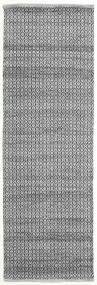 Alva - Grey/Black Rug 80X250 Authentic  Modern Handwoven Hallway Runner  Dark Grey/Light Grey/Dark Brown (Wool, India)