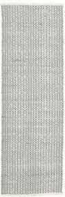 Alva - White/Black Rug 80X250 Authentic  Modern Handwoven Hallway Runner  Light Grey/Beige (Wool, India)