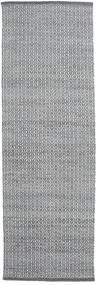 Alva - Dark Grey/White Rug 80X250 Authentic  Modern Handwoven Hallway Runner  (Wool, India)