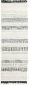 Hedda - Light Grey Rug 80X250 Authentic  Modern Handwoven Hallway Runner  Beige/Light Grey (Wool, India)