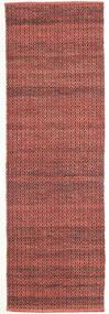 Alva - Dark_Rust/Black Rug 80X250 Authentic  Modern Handwoven Hallway Runner  Dark Red/Dark Brown (Wool, India)
