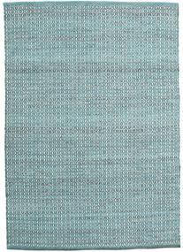 Alva - Turquoise/White Rug 140X200 Authentic Modern Handwoven (Wool, India)